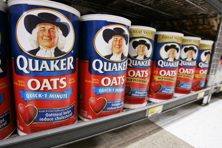 Quaker Oats on display at JJ&F Market in in Palo Alto, Calif.
