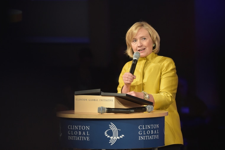Hillary Clinton speaks at the Clinton Global Initiative's 10th Annual Meeting on September 24, 2014 in New York City.