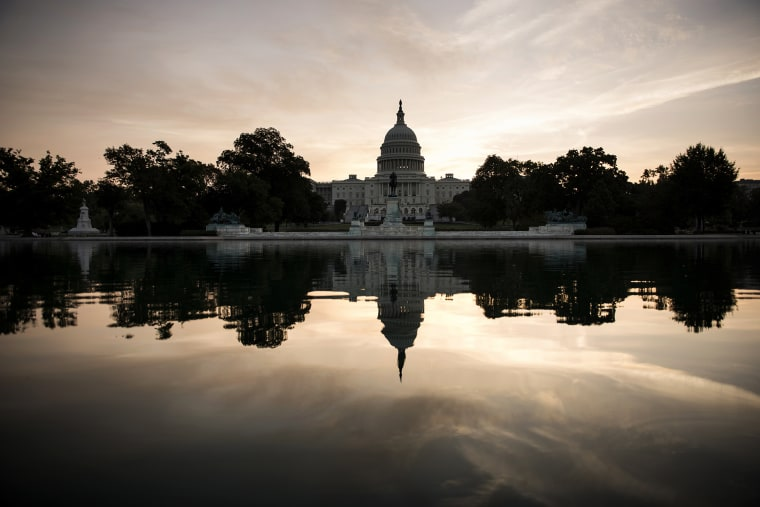 A view of Capitol Hill on Oct. 3, 2013 in Washington, D.C. (Photo by Brendan Smialowski/AFP/Getty)