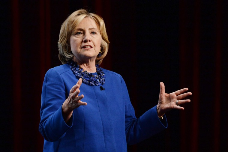 Former U.S. Secretary of State Hillary Clinton delivers a speech at the Canada 2020 conference in Ottawa on on Oct. 6, 2014.