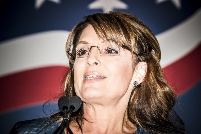Sarah Palin attends the 2014 Values Voter Summit in Washington, D.C. on September 26, 2014.
