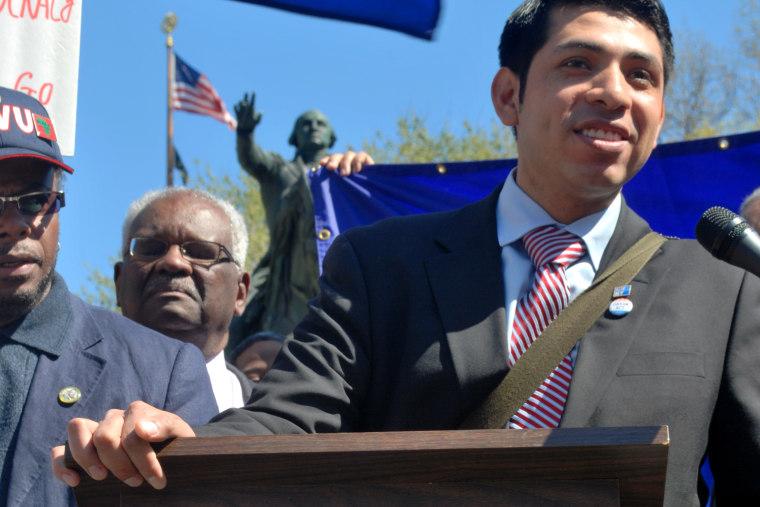 Immigration advocate Yohan Garcia.