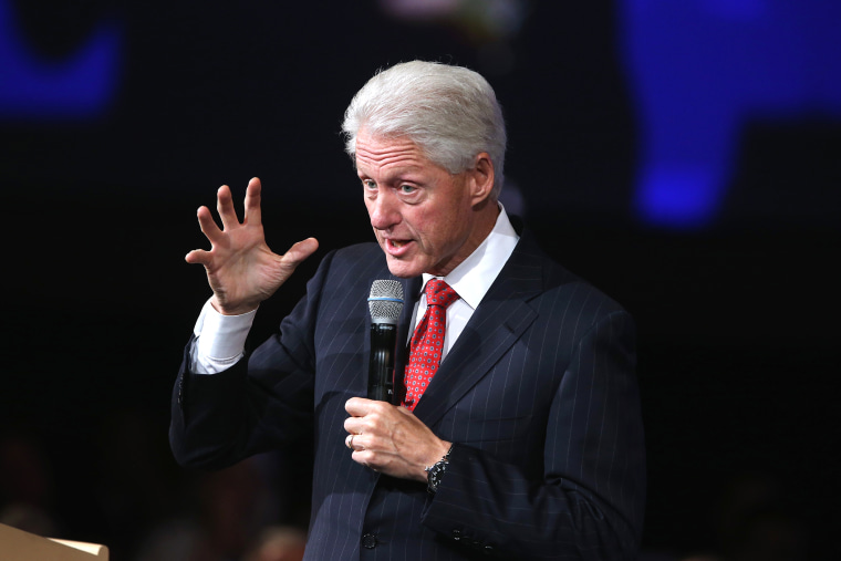 Former U.S. President Bill Clinton speaks at the Clinton Global Initiative (CGI), on Sept. 24, 2014 in New York, N.Y. (Photo by John Moore/Getty)