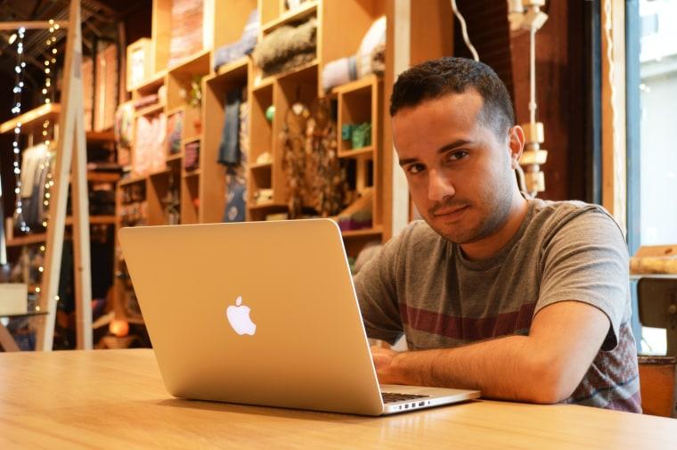 Online immigrant reform organizer Juan Escalante.