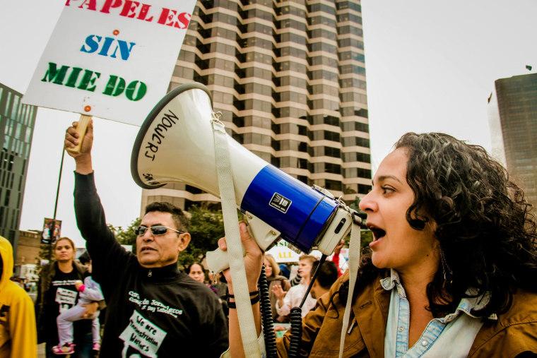 #Not1More Deportation campaign organizer Marisa Franco.