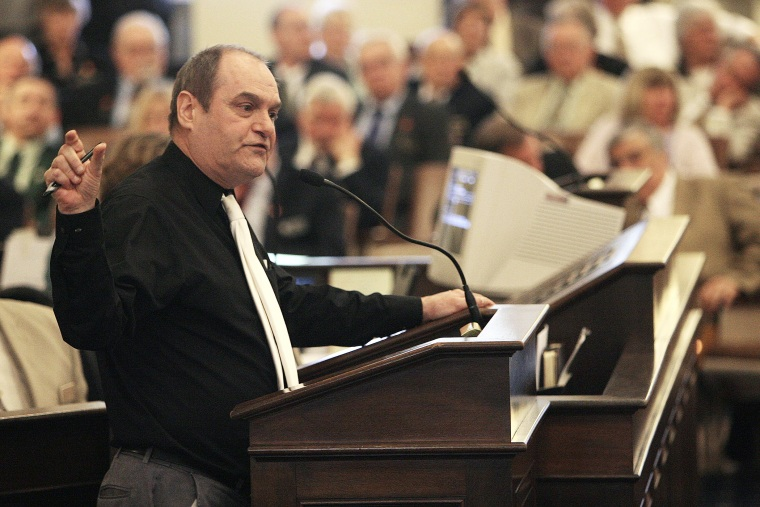 State Rep. Steve Vaillancourt speaks against an amended version of a Gay Marriage bill at the State house in Concord, N.H., May 20, 2009.