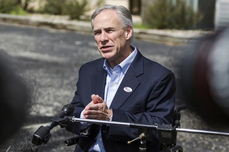 Republican gubernatorial candidate Greg Abbott speaks with the media in Austin, Texas, on March 4, 2014. (Photo by Ricardo Brazziell/Austin American-Statesman/AP)