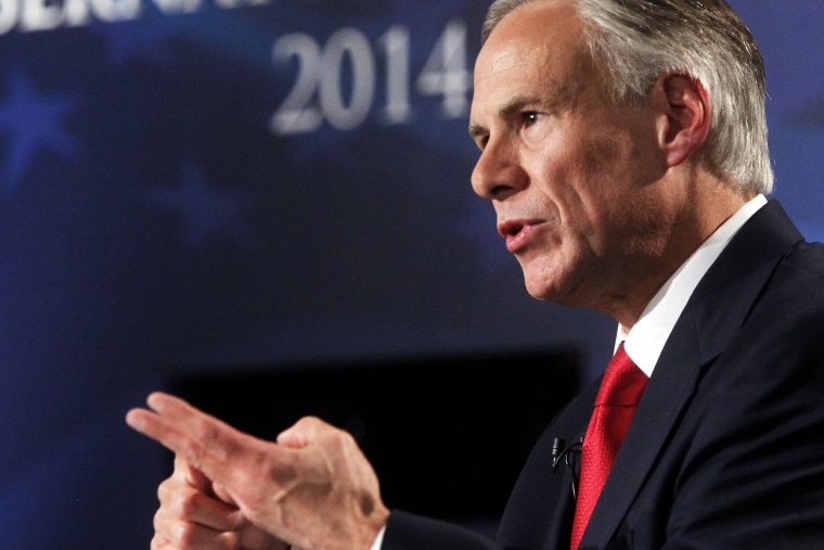 Texas Attorney General Greg Abbott answers a question during the Rio Grande Valley Gubernatorial Debate in Edinburg, Texas on Sept. 19, 2014. (Gabe Hernandez/The McAllen Monitor/Pool/AP)