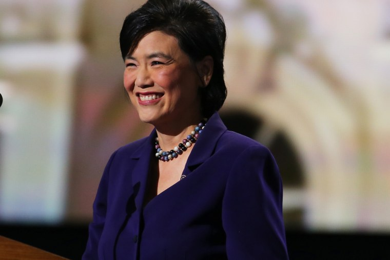 U.S. Rep. Judy Chu (D-CA) speaks during day two of the Democratic National Convention at Time Warner Cable Arena on Sept. 5, 2012 in Charlotte, N.C.