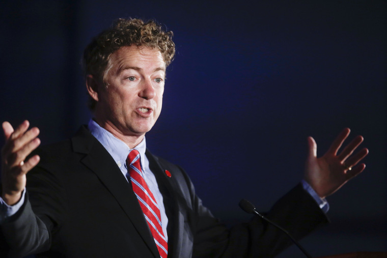 Sen. Rand Paul (R-Ky.) speaks at an event, Sept. 20, 2014, in Los Angeles, Calif. (Photo by Chris Carlson/AP)