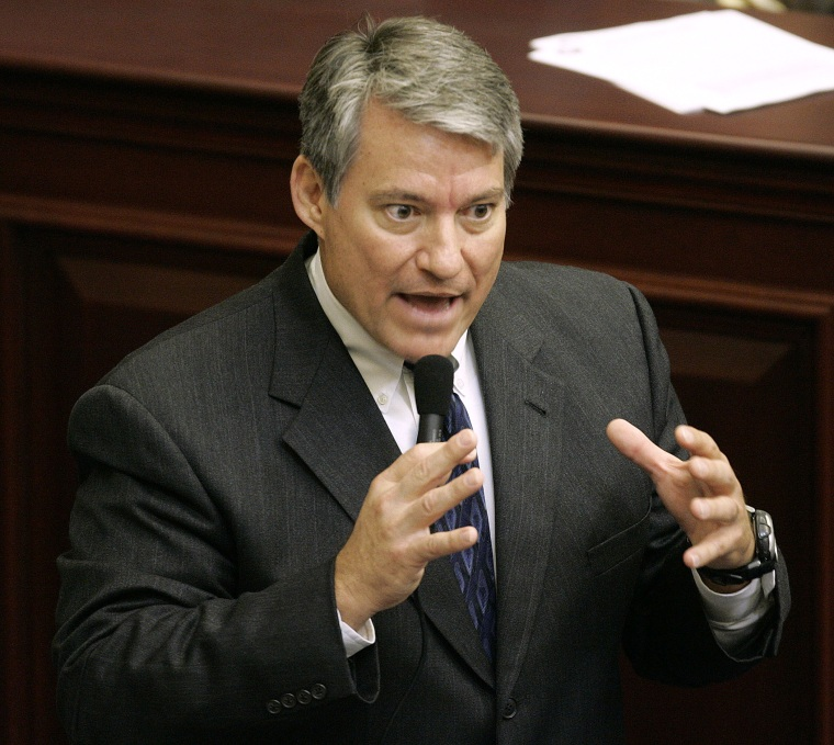 Rep. Dennis Ross, R-FL, debates during a Florida House session as a state representative, April 27, 2006, in Tallahassee, Fla.