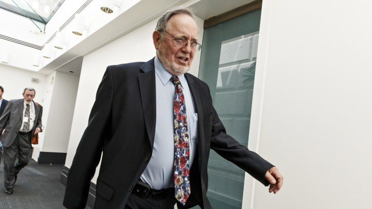 Rep. Don Young leaves a closed-door Republican strategy session dealing with the the immigration crisis on the U.S.-Mexico border at the Capitol in Washington, D.C. on July 31, 2014.