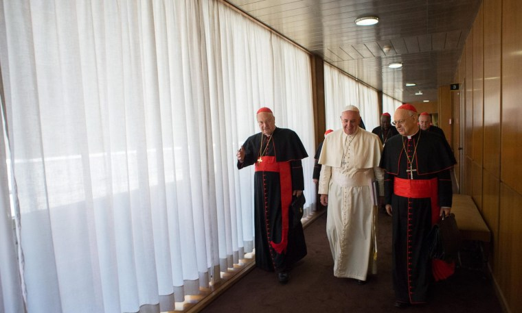 Image: Pope Francis leads a consistory
