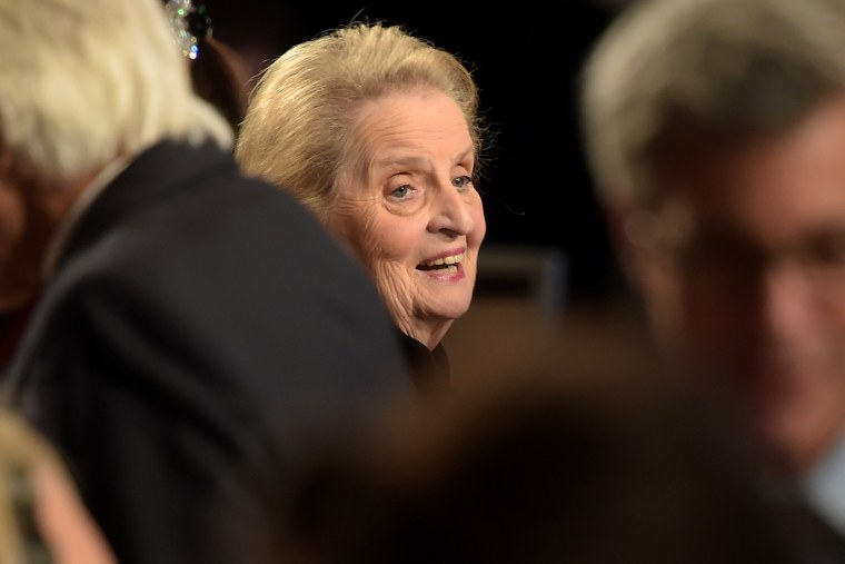 Former Secretary of State Madeleine Albright attends the third day of the Clinton Global Initiative's 10th Annual Meeting at the Sheraton New York Hotel & Towers on Sept. 23, 2014 in New York City.