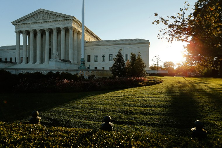 A general view of the U.S. Supreme Court building at sunrise is seen in Washington, D.C., on Oct. 5, 2014. (Photo by Jonathan Ernst/Reuters)