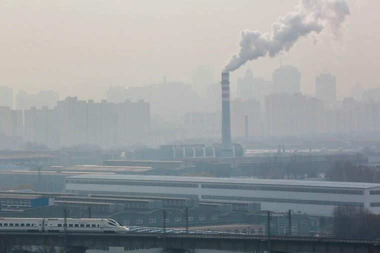 A view of the smog in Changchun city, northeast Chinas Jilin province, Nov. 8, 2013. (Imaginechina/AP)