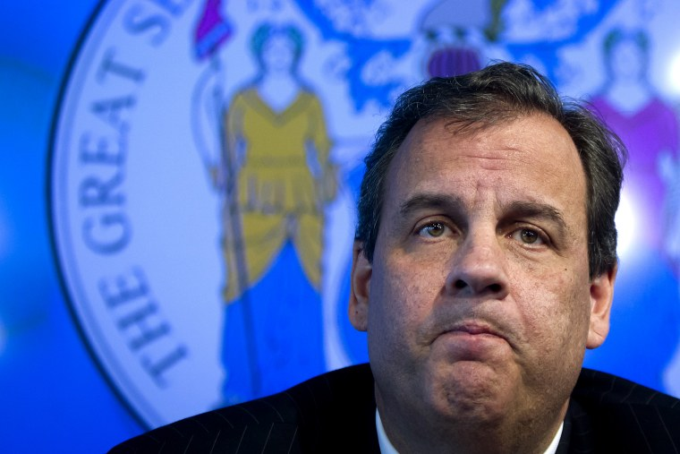 Governor of New Jersey Chris Christie speaks during a news conference about New York's first case of Ebola, in New York on Oct. 24, 2014. (Carlo Allegri/Reuters)