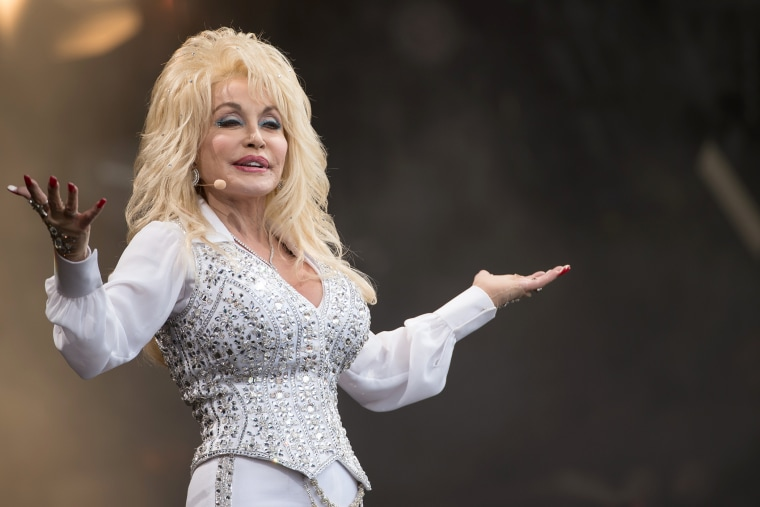 Dolly Parton performs during the Glastonbury Festival at on June 29, 2014 in Glastonbury, England.