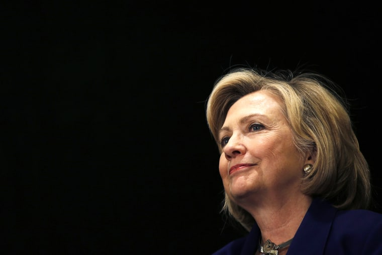 Former U.S. Secretary of State Hillary Rodham Clinton appears at an event on Oct. 23, 2014 in New York, N.Y. (Photo by Mike Segar/Reuters)