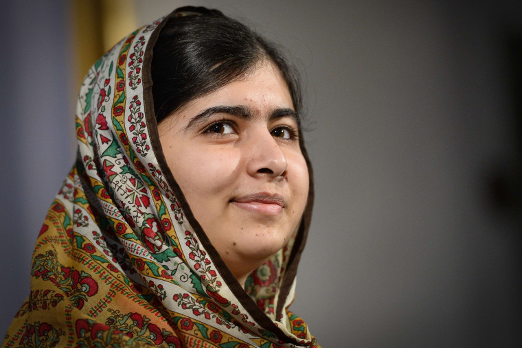 Pakistani activist for female education Malala Yousafzai attends a press conference in Sweden on Oct. 29, 2014.