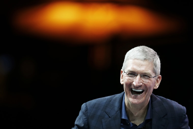 Apple CEO Tim Cook speaks at the WSJD Live conference in Laguna Beach, Calif. Oct. 27, 2014.