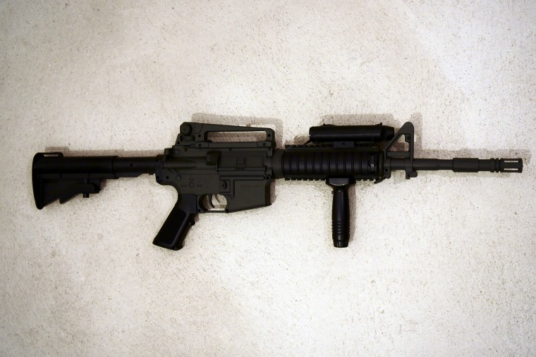 An airsoft rifle. (Photo by Sojka Libor/CTK/AP)