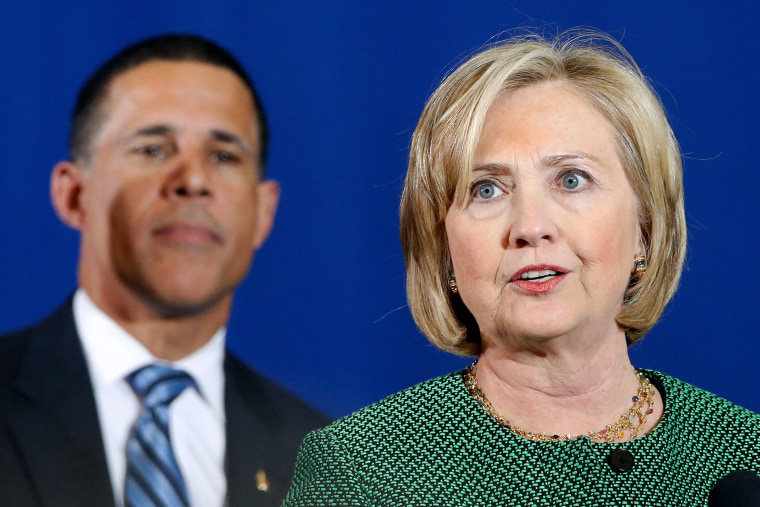 Former U.S. Secretary of State Hillary Clinton speaks at a campaign rally for Maryland Lieutenant Governor Anthony Brown, Democratic nominee for Maryland governor in College Park, Md., on Oct. 30, 2014. (Photo by Jonathan Ernst/Reuters)