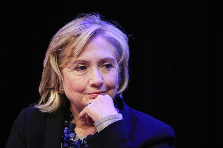 Former Secretary of State Hillary Rodham Clinton listens to questions during an event on Sept. 12, 2014, in New York, N.Y.