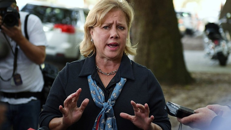 U.S. Sen. Mary Landrieu (D-LA) speaks with the media after voting on Nov. 4, 2014 in New Orleans, La. (Stacy Revere/Getty)