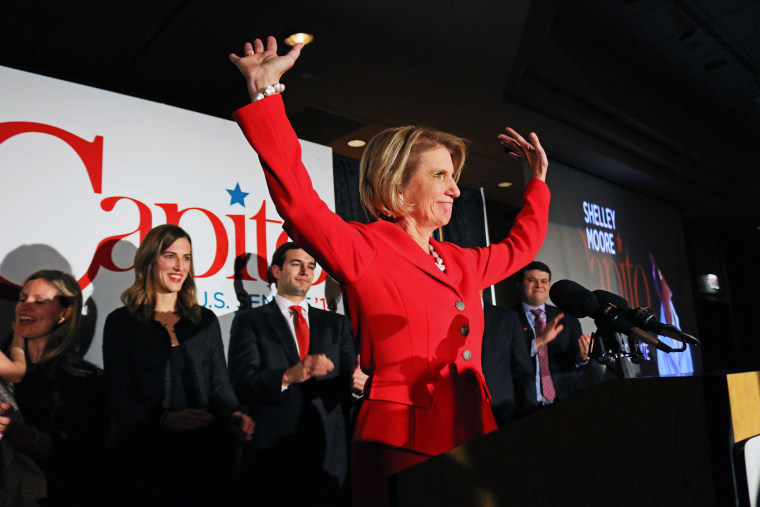 West Virginia Republican Senate candidate Rep. Shelley Moore Capito speaks after winning the Senate seat on Nov. 4, 2014, at the Embassy Suites in Charleston W.Va.
