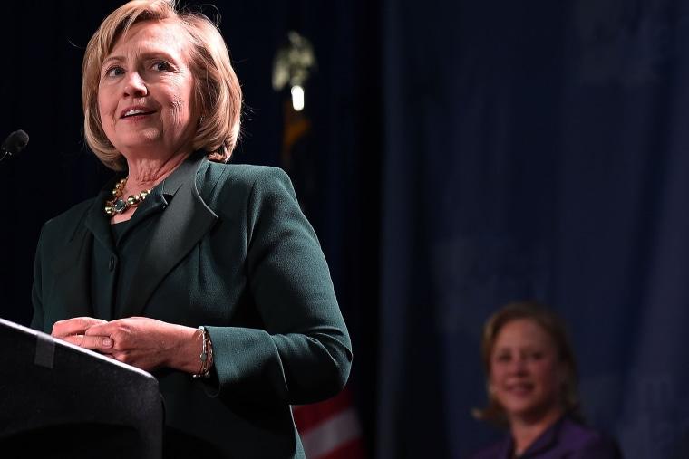 Former U.S. Secretary of State Hillary Clinton campaigns for U.S. Sen. Mary Landrieu (D-LA) on Nov. 1, 2014 in New Orleans, La.