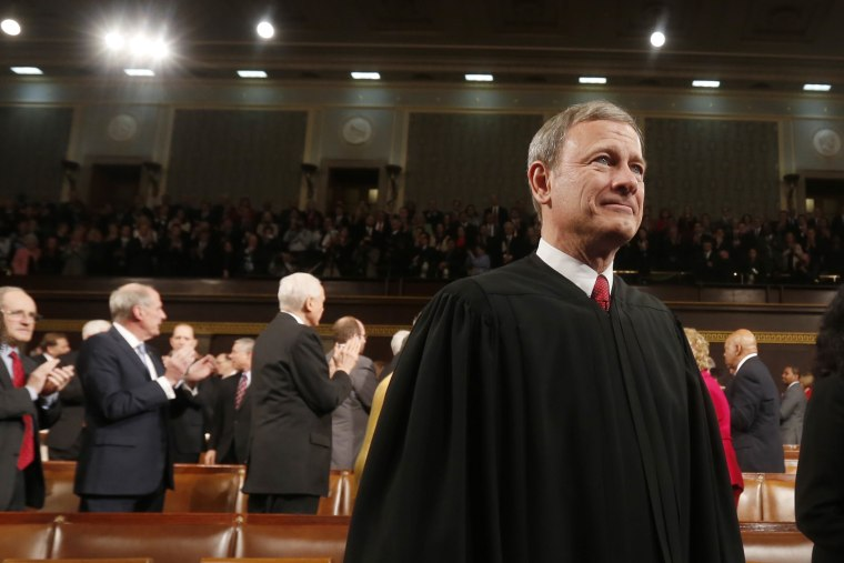 U.S. Supreme Court Chief Justice John Roberts arrives prior to President Barack Obama's State of the Union speech on Capitol Hill on Jan. 28, 2014. (Larry Downing/Pool/Getty)