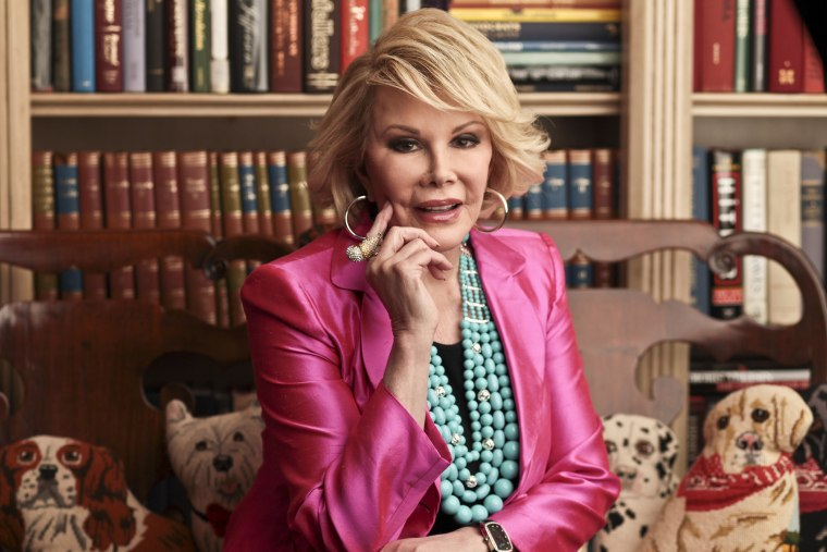 Joan Rivers in New York, March 2, 2010. (Photo by Fred R. Conrad/The New York Times/Redux)