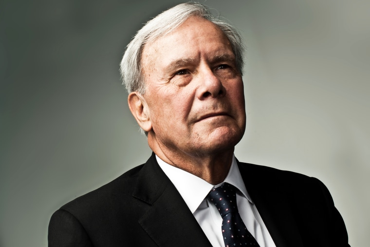 American television journalist and former NBC News anchor Tom Brokaw in Washington, D.C. on Oct. 5, 2011. (Photo by Stephen Voss/Redux)
