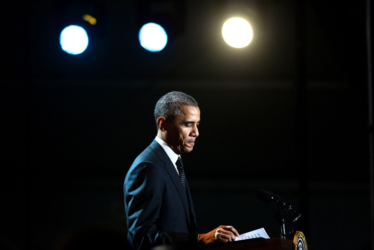 President Barack Obama speaks at an event on the South Lawn of the White House on Nov. 6, 2014 in Washington, D.C. (Photo by Olivier Douliery/Pool/Getty)