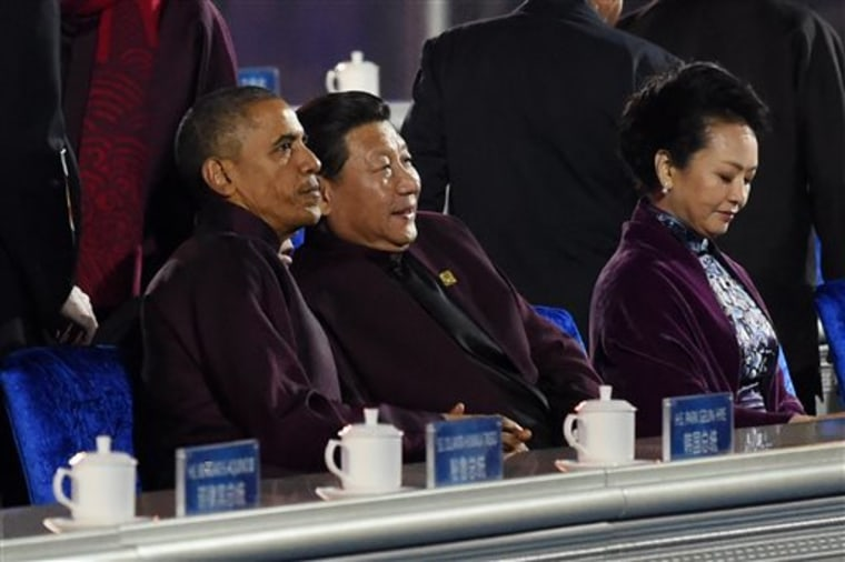 Barack Obama Xi Jinping Peng Liyuan