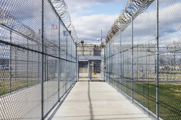 Prison fence at a Correctional Facility.