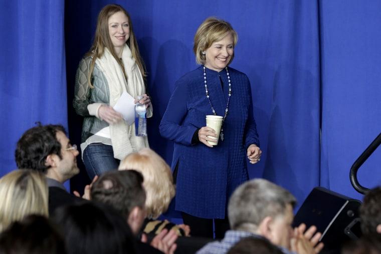 Hillary Clinton, Chelsea Clinton (Danny Johnston/AP)