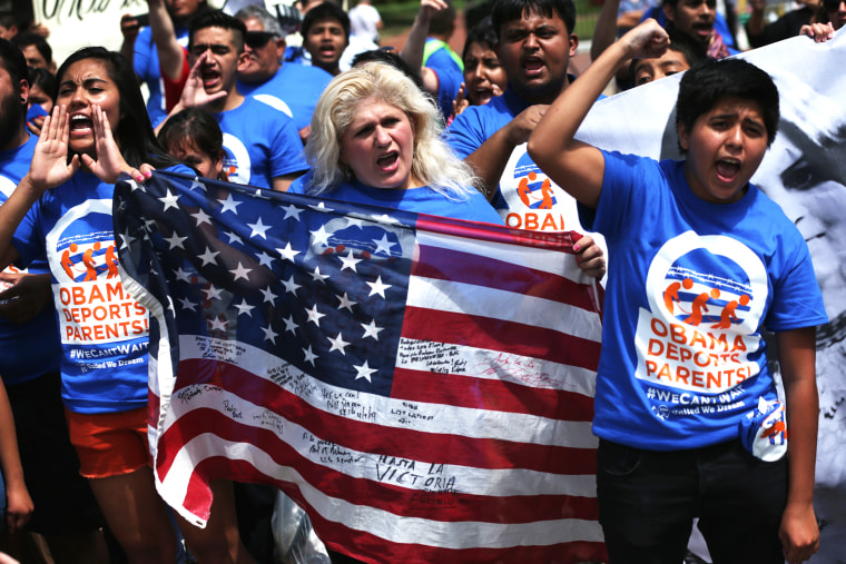 United We Dream activists participate in a rally in front of the White House July 28, 2014 in Washington, D.C. (Photo by Alex Wong/Getty)