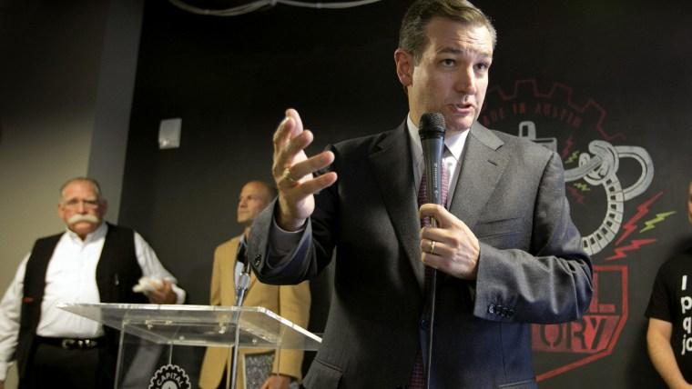 U.S. Sen. Ted Cruz speaks about net neutrality at Capital Factory in Austin, Texas, on Nov. 14, 2014.