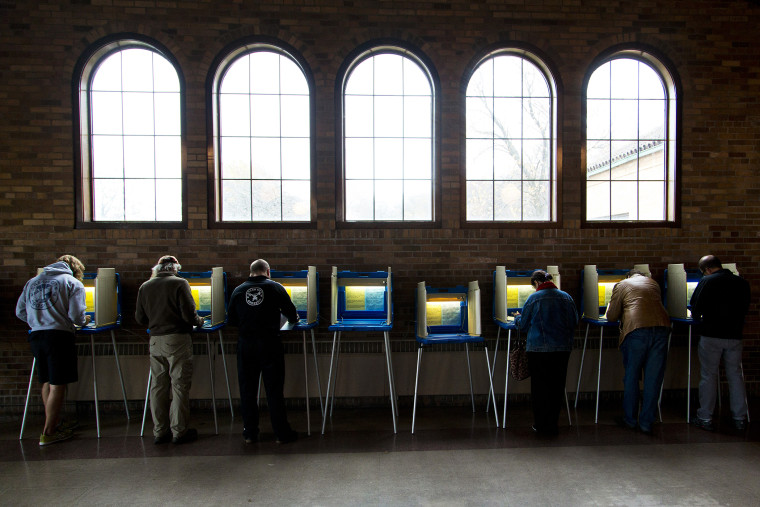 Citizens go to the cast their ballots at the South Shore Park building on election day on Nov. 4, 2014 in Milwaukee, Wis. (Photo by Darren Hauck/Getty)