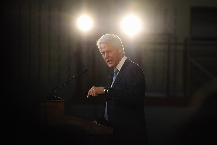 Former President Bill Clinton speaks an event on Oct. 13, 2014, in Hartford, Conn. (Photo by Jessica Hill/AP)
