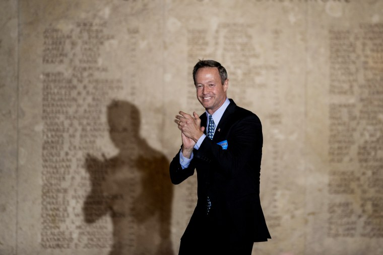 Maryland Governor Martin O'Malley arrives for a rally at the War Memorial Building on Nov. 3, 2014 in Baltimore, Maryland.