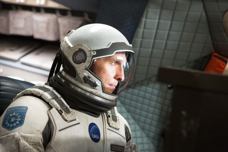 "This photo released by Paramount Pictures shows, Matthew McConaughey, in a scene from the film, '""Interstellar,"" from Paramount Pictures and Warner Brothers Pictures, in association with Legendary Pictures. (Melinda Sue Gordon/Paramount Pictures/AP)"