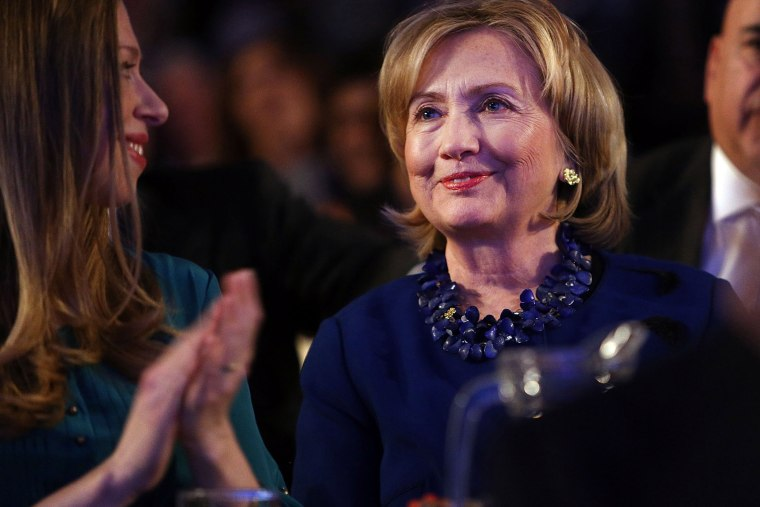 Former US Secretary of State Hillary Rodham Clinton at the Clinton Global Initiative in New York City, on Sept. 23, 2014.