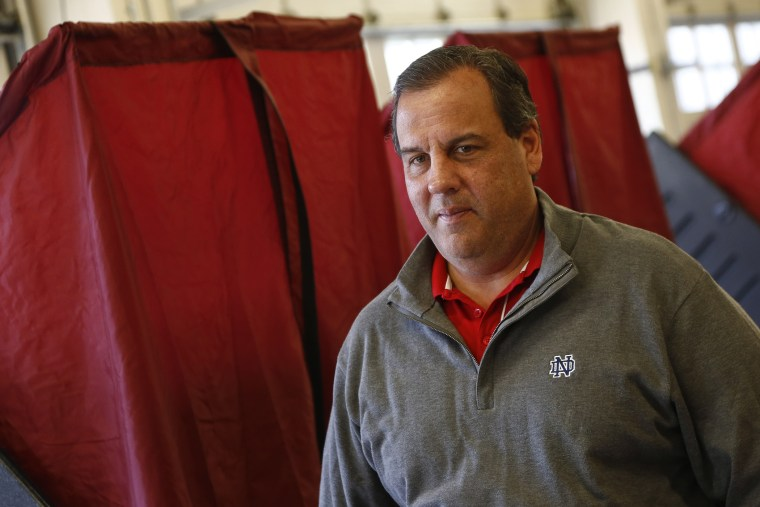 New Jersey Gov. Chris Christie on Nov. 4, 2014 at the Emergency Services Building in Mendham Twp., N.J. (Jeff Zelevansky/Getty)