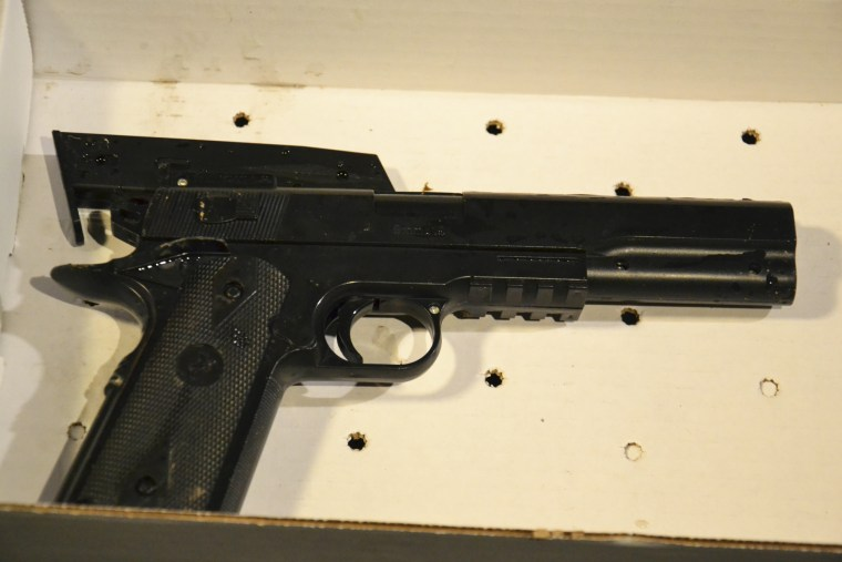 This Saturday, Nov. 22, 2014 photo provided by the Cleveland Police Department shows a gun taken from a 12-year old who was fatally shot by Cleveland police. (Cleveland Police Department/AP)
