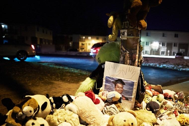 A memorial for Michael Brown seen on Nov. 19, 2014 in Ferguson, Mo. (Photo by Sebastiano Tomada/Getty)