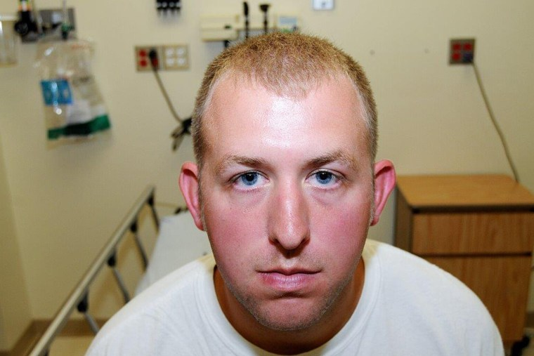 St. Louis County Prosecutor's Office photo shows Ferguson, Mo. police officer Darren Wilson photo taken shortly after Aug. 9, 2014 shooting of Michael Brown, presented to the grand jury and made available on Nov. 24, 2014.
