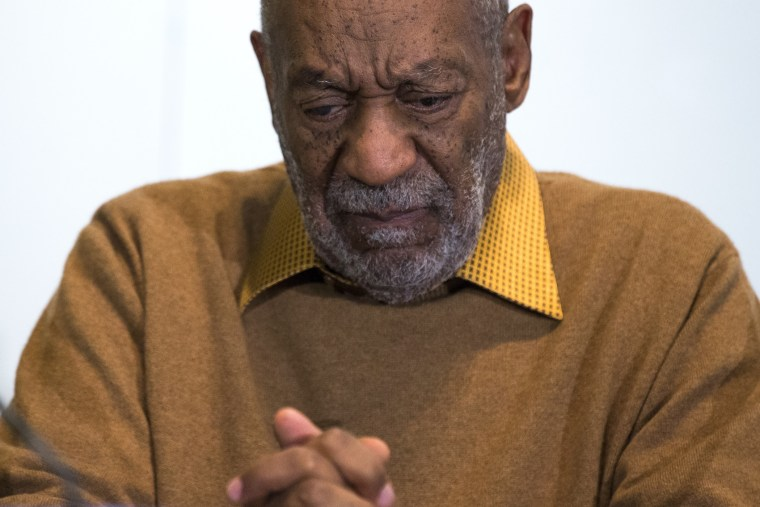 In this photo taken Nov. 6, 2014, entertainer Bill Cosby pauses during a news conference in Washington, D.C. (Photo by Evan Vucci/AP)